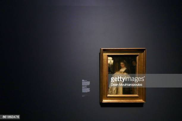 A general view of Chistening Procession by Matthijs Maris during a special exhibition held at the Rijksmuseum Exhibition on October 13 2017 in...