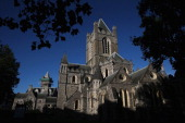 A general view of Christ Church Cathedral on October 23 2013 in Dublin Ireland Dublin is the capital city of The Republic of Ireland situated in the...