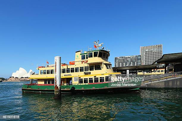 A general view of Circular Quay with the ferry 'Friendship' on January 22 2015 in Sydney Australia Circular Quay was evacuated after police were...