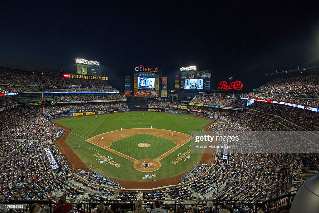 A general view of Citi Field during the 84th MLB AllStar Game on July 16 2013 at Citi Field in the Flushing neighborhood of the Queens borough of New...