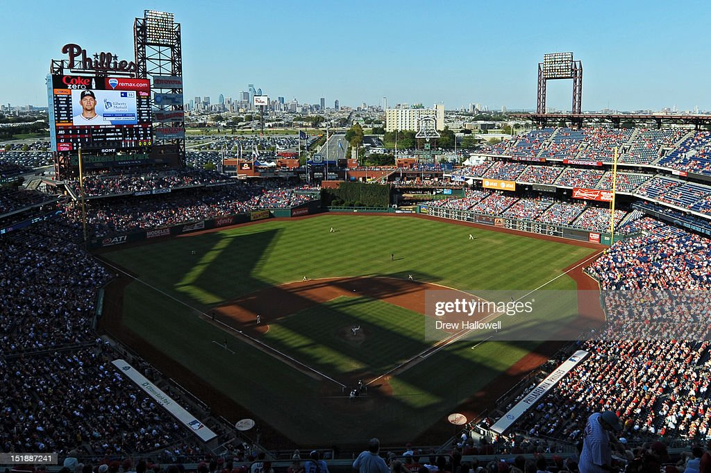 A general view of Citizens Bank Park during the game against the Miami Marlins on September 12, 2012 in Philadelphia, Pennsylvania. The Phillies won 3-1.