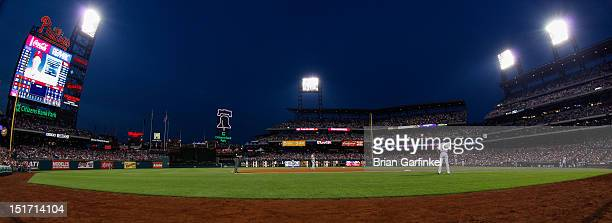 A General View of Citizens Bank Park during the game between the Atlanta Braves and the Philadelphia Phillies on August 8 2012 in Philadelphia...