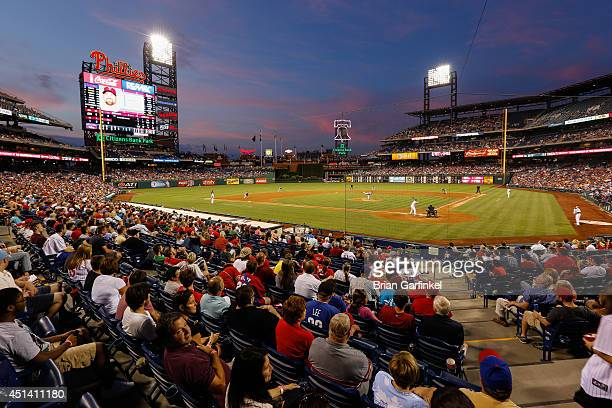 A general view of Citizens Bank Park in the fifth inning of the second game of a doubleheader between the Atlanta Braves and the Philadelphia...