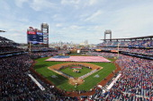 A general view of Citizens Bank Park on opening day between the Milwaukee Brewers and Philadelphia Phillies on April 8 2014 in Philadelphia...