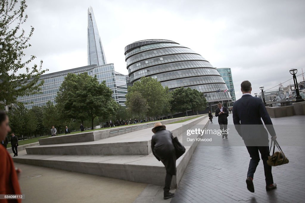 A general view of City Hall on the morning Sadiq Khan attends his first Mayor's question time at City Hall on May 25, 2016 in London, England. The new London Mayor, elected in May, answers questions from the Assembly in public on Londons economy and the EU, affordable rents and housing and FGM at his first Mayors Question Time. The Mayor is questioned by the Assembly ten times a year to hold his administration to account.