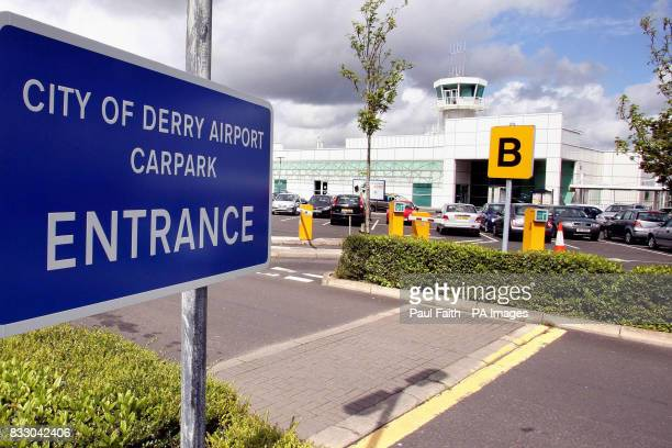 A general view of City of Derry Airport as Council chiefs were locked in discussions with the Civil Aviation Authority after flights were suspended...