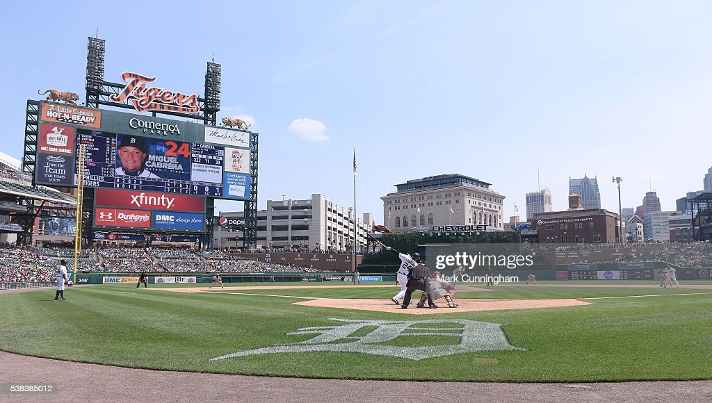 A General View Of Comerica Park From Behind Home Plate As Miguel Cabrera 24