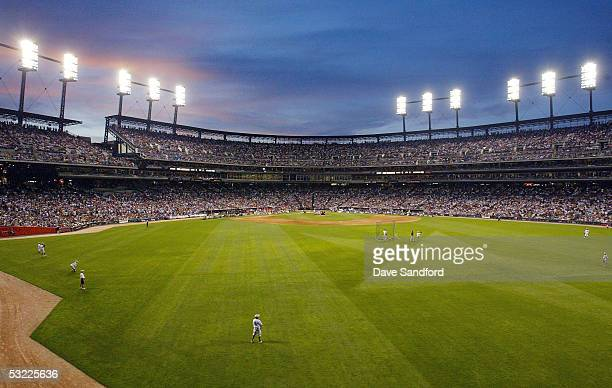 A general view of Comerica Park is seen during the 2005 Major League Baseball Home Run Derby at Comerica Park on July 11 2005 in Detroit Michigan
