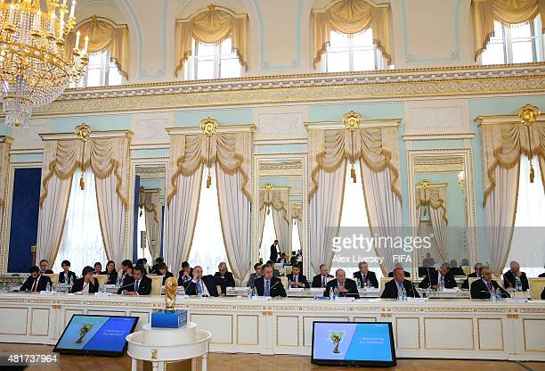 A general view of committee members is seen as FIFA President Joseph S Blatter opens the Russia 2018 FIFA World Cup Organising Committee Meeting at...