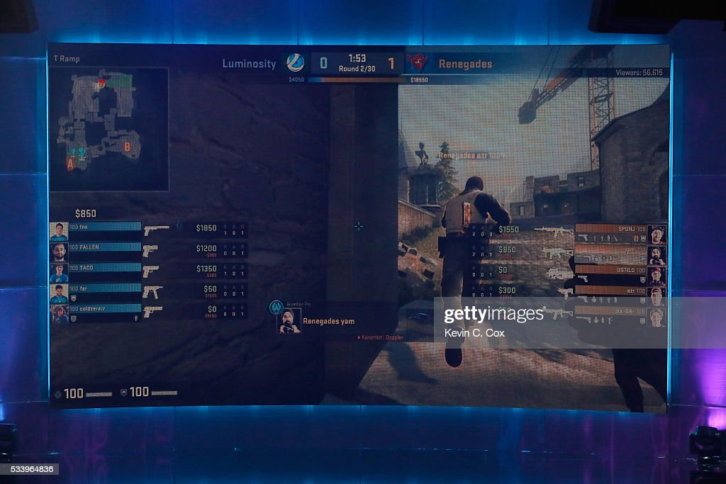 A general view of competition between Luminosity and the Renegades in the state-of-the-art arena during Day One of ELEAGUE Group Stage A at Turner Studios on May 24, 2016 in Atlanta, Georgia.