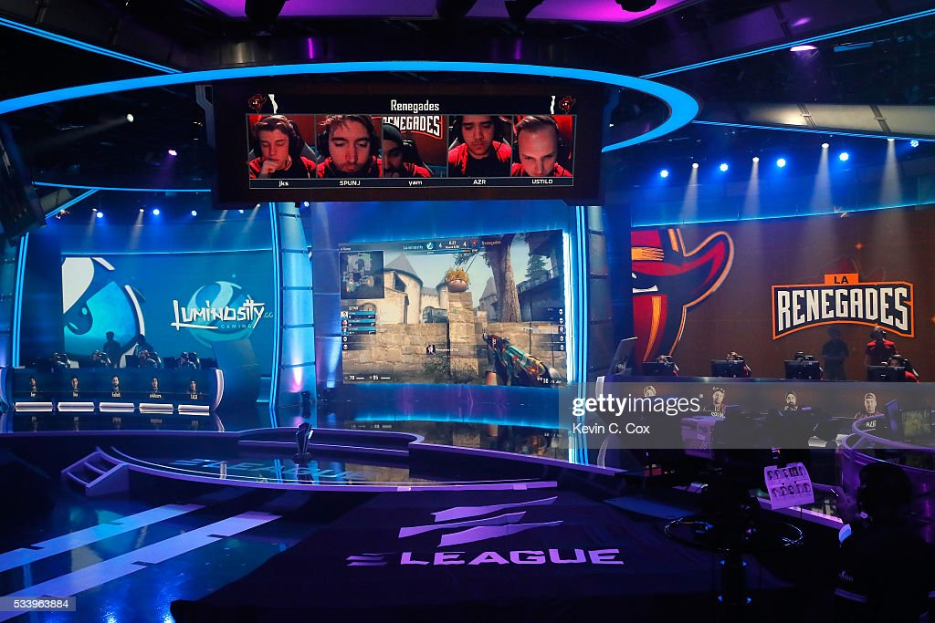 A general view of competition in the state-of-the-art arena during Day One of ELEAGUE Group Stage A at Turner Studios on May 24, 2016 in Atlanta, Georgia.