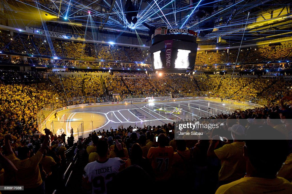 A general view of Consol Energy Center prior to Game One of the 2016 NHL Stanley Cup Final between the Pittsburgh Penguins and the San Jose Sharks on May 30, 2016 in Pittsburgh, Pennsylvania.