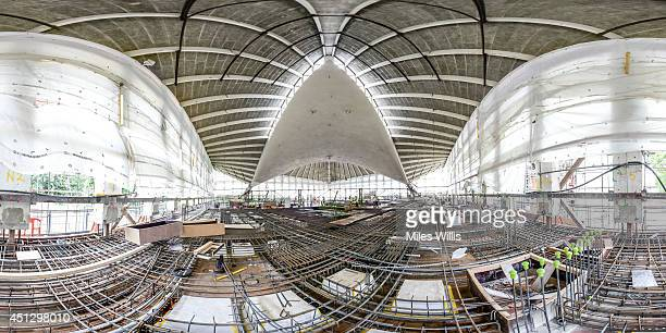 A general view of construction work being carried out inside The Design Museum's new Kensington home as the museum gears up to celebrate its 25th...