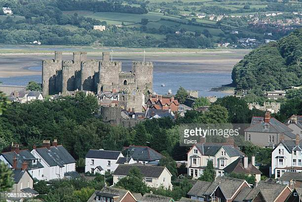 A general view of Conwy Castle a mediaeval fortress built between 1283 and 1289 during King Edward I's second campaign in North Wales Conwy North...