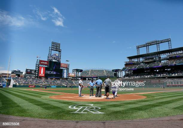 General view of Coors Field from behind home plate during a regular season MLB game between the Colorado Rockies and the visiting Milwaukee Brewers...