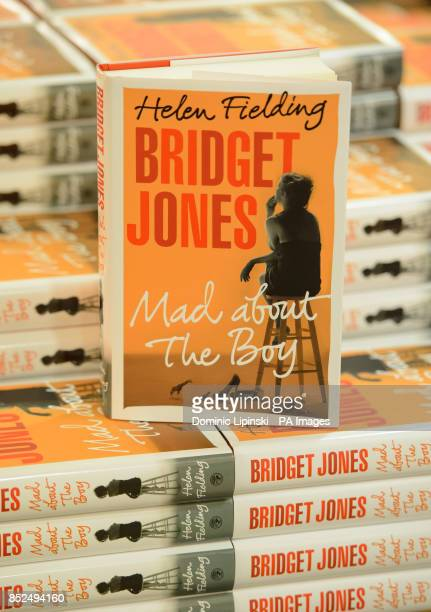General view of copies of 'Bridget Jones Mad About the Boy' by Helen Fielding at Foyles in central London