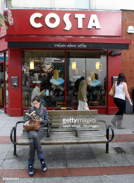 General view of Costa Coffee shop part of Whitbread PLC stable