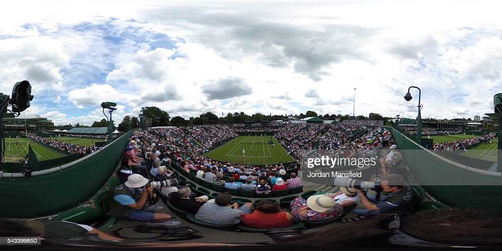 A general view of Court 2 on day two of the Wimbledon Lawn Tennis Championships at the All England Lawn Tennis and Croquet Club on June 28th, 2016 in London, England.