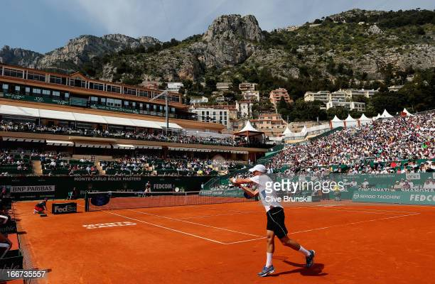 A general view of Court Central showing Nikolay Davydenko of Russia against JoWilfried Tsonga of France in their second round match during day three...