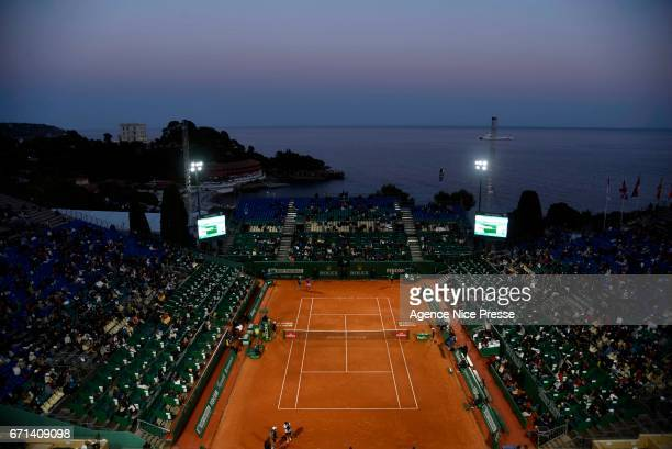 General view of court Rainier III during the Monte Carlo Rolex Masters 2017 on April 21 2017 in Monaco Monaco