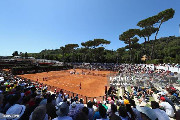 General view of court two during the match between Laura Siegemund of Germany and Naomi Osaka of Japan on Day Two of The Internazionali BNL d'Italia...