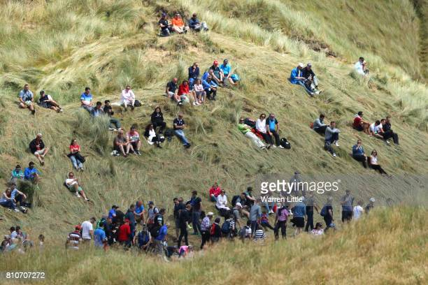 General View of crowds during day three of the Dubai Duty Free Irish Open at Portstewart Golf Club on July 8 2017 in Londonderry Northern Ireland