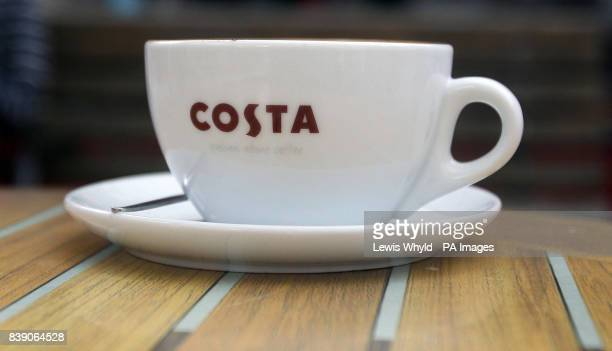 General view of cup from a Costa Coffee shop part of Whitbread PLC stable