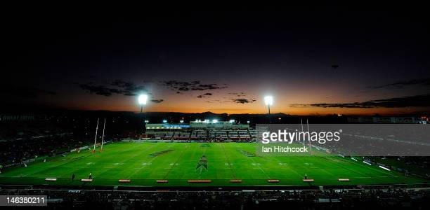 A general view of Dairy Farmers Stadium during the round 15 NRL match between the North Queensland Cowboys and the Brisbane Broncos at Dairy Farmers...