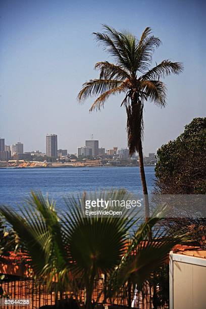 A general view of Dakar Skyline from a beach on the Ile De Gore on December 27 2007 near Dakar Republic of Senegal The Gore island is situated off...