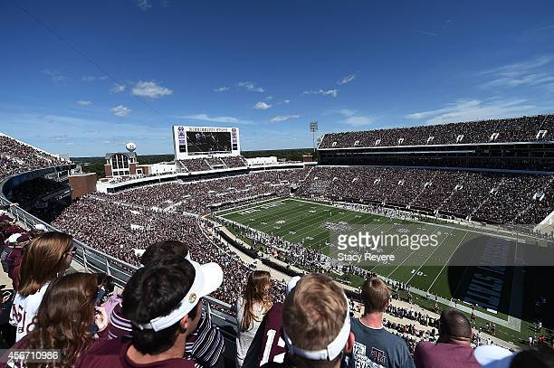 General view of Davis Wade Stadium during the third quarter of a game between the Mississippi State Bulldogs and the Texas AM Aggies on October 4...