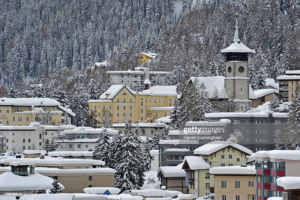 A general view of Davos on January 10, 2012 in Davos, Switzerland. The World Economic Forum, which gathers the World's top leaders, runs from January 25 - 29.
