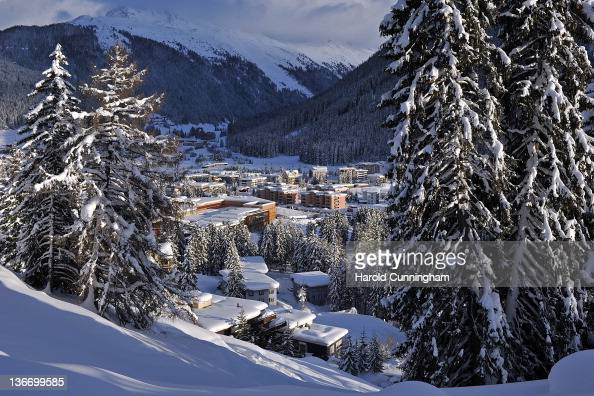 A general view of Davos on January 10 2012 in Davos Switzerland The World Economic Forum which gathers the World's top leaders runs from January 25...