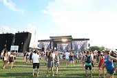 A general view of day one of The Panorama Music Festival at Randall's Island on July 22 2016 in New York City