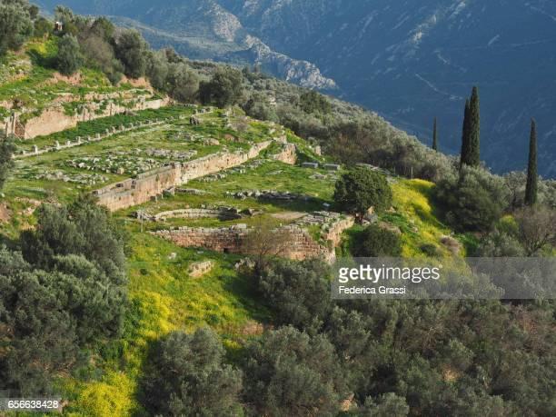 General View of Delphi Sanctuary Dedicated to Athena Pronea