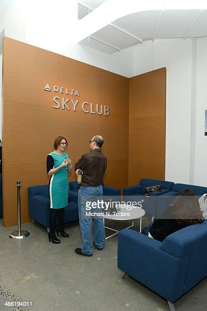 General View of Delta Air Lines PopUp Sky Club At The Diageo Liquid Cellar Day 3 on January 31 2014 in New York City