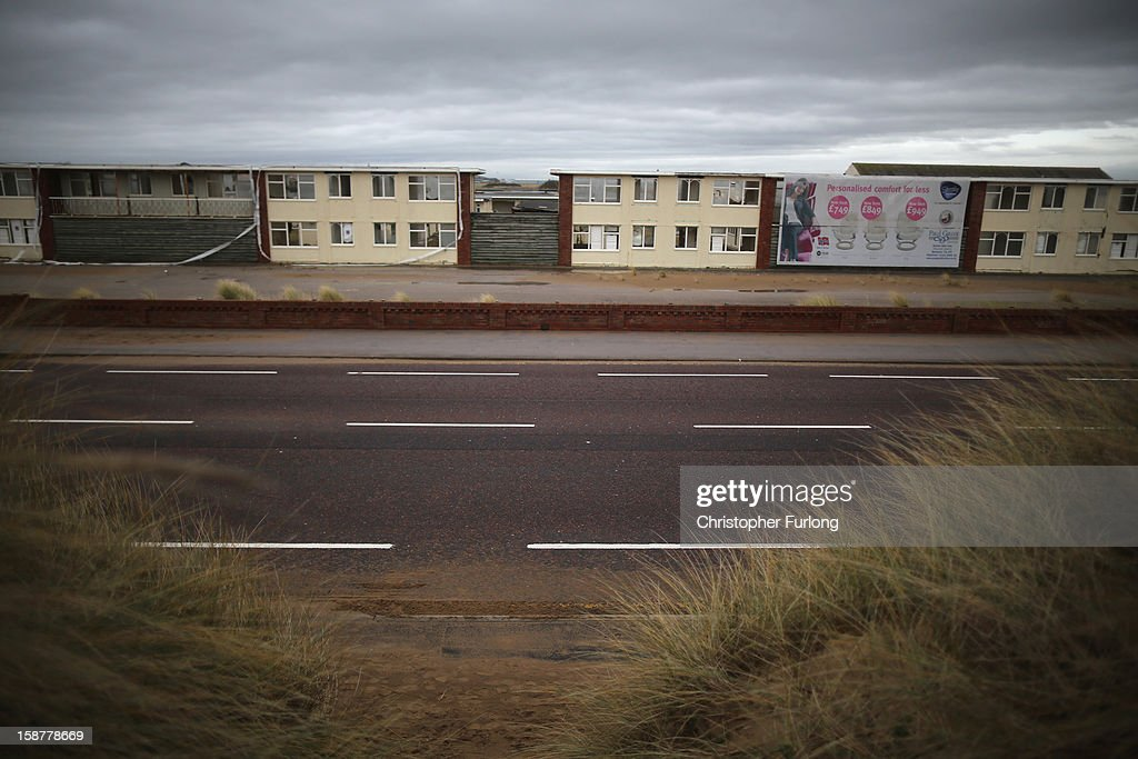 A general view of derelict holiday chalets as they await demolition at Pontins Holiday Camp on December 28, 2012 in Blackpool, England. The Pontin's holiday park in Blackpool is nearing complete demolition after closing in 2009 due to falling visitor numbers, with the land being earmarked for a housing project. The Pontin's British holiday business was originally founded in 1946 by Fred Pontin, providing chalet style holiday accommodation and on site entertainment to visitors. Millions of Britons visited Pontins in it's heyday, being entertained by its famous Blue Coat hosts.