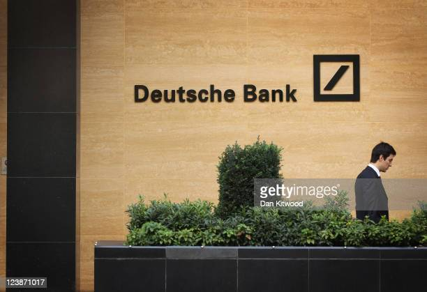 A general view of Deutsche Bank on September 5 2011 in London England Shares at Deutsche Bank fell by nearly 9 per cent today after news emerged that...