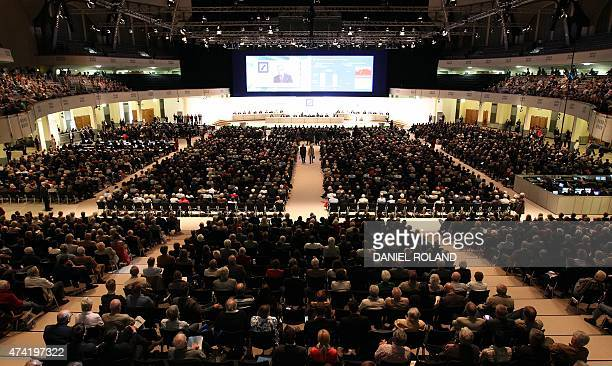 A general view of Deutsche Bank's annual shareholder meeting in Frankfurt/Main Germany on May 21 2015 Deutsche Bank has launched an internal probe...