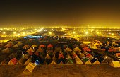 A general view of devotees' tents ahead of the monthlong Magh Mela are pictured near the Sangam in Allahabad on January 4 2015 The Magh Mela which is...