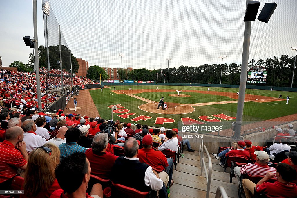A general view of Doak Field during a game between the North Carolina Tar Heels and the North Carolina State Wolfpack on April 26, 2013 in Raleigh, North Carolina. North Carolina defeated NC State 7-1.
