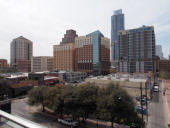 General view of downtown Austin Texas from the balcony of the Austin Convention Center on Thursday March 7 2012 on the eve of the opening of the 27th...