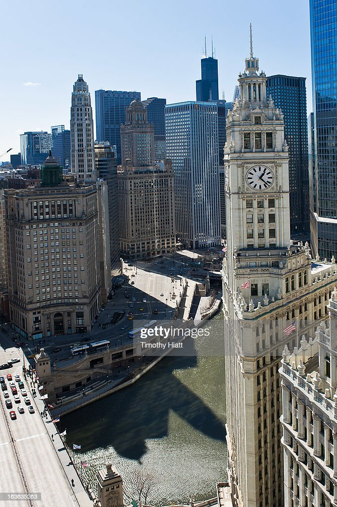 A general view of downtown Chicago on March 13, 2013 in Chicago, IL.