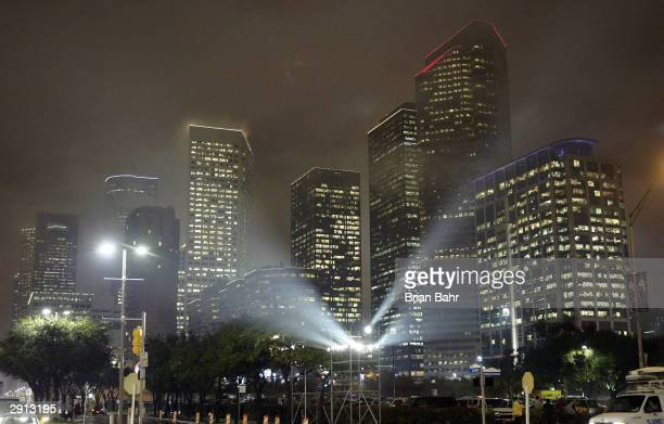 A general view of downtown Houston Texas as it is preped to host Super Bowl XXXVIII between the New England Patriots and the Carolina Panthers...