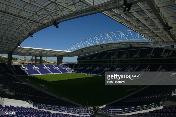 A general view of Dragao Stadium Porto November 18 2003 Porto Portugal Porto is one of the host cities for the UEFA European Football Championships...