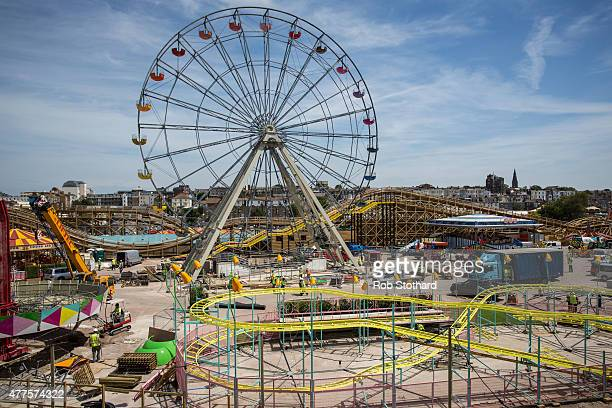 A general view of Dreamland amusement park on June 18 2015 in Margate England Dreamland is considered to be the oldestsurviving amusement park in...
