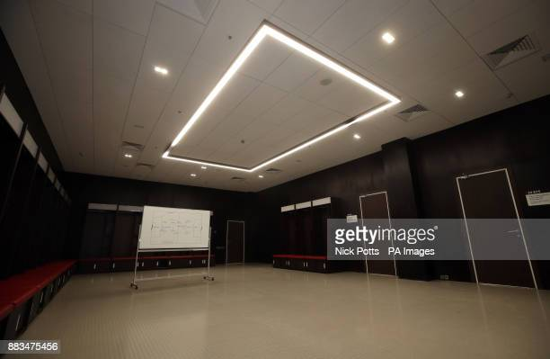 A general view of 'dressing room B' at the Luzhniki Stadium in Moscow Russia PRESS ASSOCIATION Photo Picture date Friday December 1 2017 The stadium...