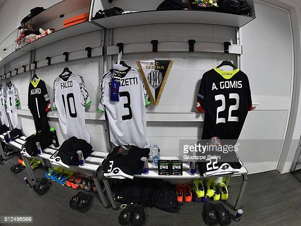 A general view of dressing room of AC Cesena prior the Serie B match between AC Cesena and Cagliari Calcio on February 26 2016 in Cesena Italy