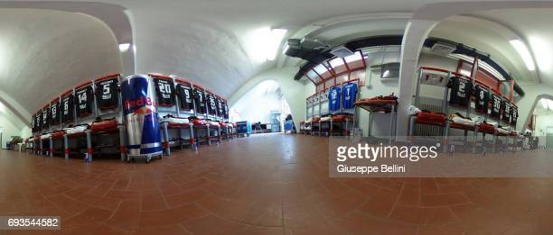 General view of dressing room of Benevento Calcio prior the Serie B Palyoff Final between Carpi FC and Benevento Calcio at Stadio Sandro Cabassi on...