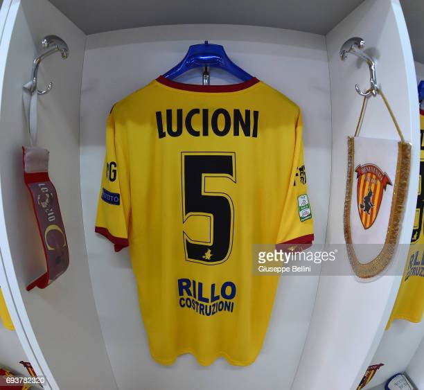 General view of dressing room of Benevento prior the Serie B Play off Final match between Benevento Calcio and Carpi FC at Stadio Ciro Vigorito on...