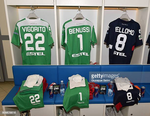 A general view of dressing room of Vicenza Calcio prior the Serie B match between Pescara Calcio and Vicenza Calcio at Adriatico Stadium on February...